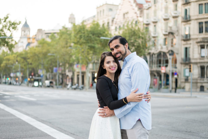 wedding anniversary session in Barcelona