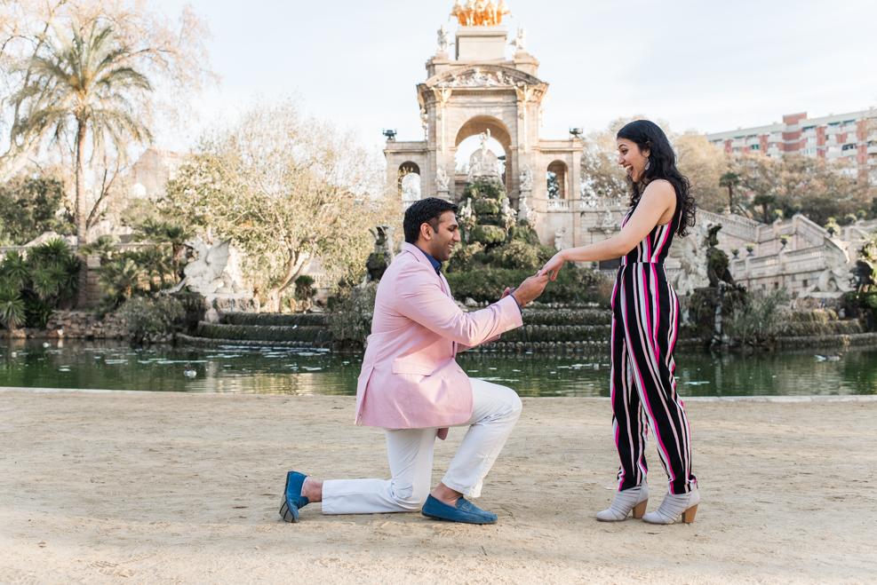 surprise proposal in Parc de la Ciutadella